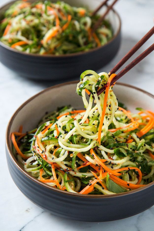 Best Recipe Ideas for Summer - Asian Sesame Cucumber Salad - Cool Salads, Easy Side Dishes, Recipes for Summer Foods and Dinner to Beat the Heat - Light and Healthy Ideas for Hot Summer Nights, Pool Parties and Picnics http://diyjoy.com/best-recipes-summer