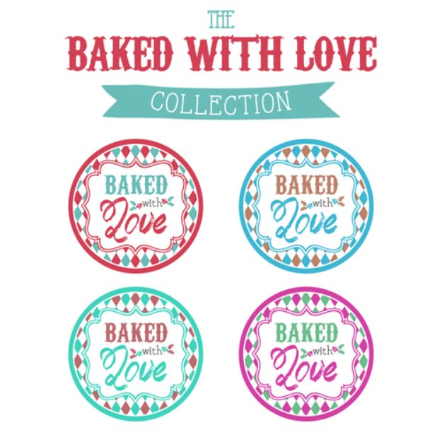 Free Printables for Mason Jars - Baked With Love Printable Tags - Best Ideas for Tags and Printable Clip Art for Fun Mason Jar Gifts and Organization#masonjar #crafts #printables
