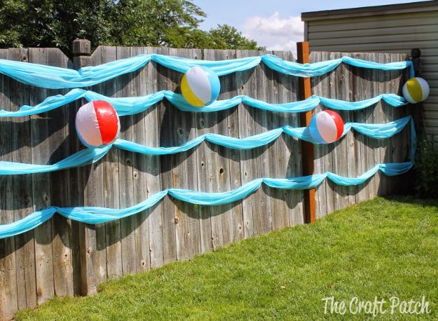 DIY Backyard Party Decor - Beach-Themed Decor - Cool Ideas for Decorations for Parties - Easy and Cheap Crafts for Summer Barbecues and Family Get Togethers, Swimming and Pool Party Fun - Step by Step Tutorials For Banners, Table Decor, Serving Ideas and Mason Jar Crafts r
