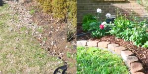 Watch How He Puts In This Easy No Dig Border To Landscape His Yard! (Before And After)