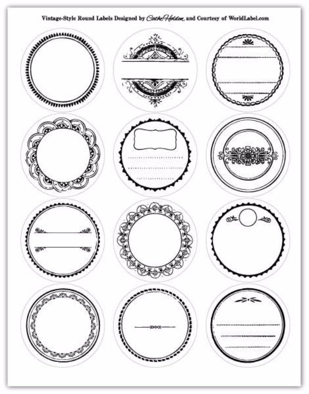 Free Printables for Mason Jars - Black And White Mason Jar Lid Printables - Best Ideas for Tags and Printable Clip Art for Fun Mason Jar Gifts and Organization#masonjar #crafts #printables