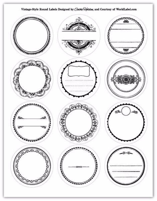 Free Printables for Mason Jars - Black And White Mason Jar Lid Printables - Best Ideas for Tags and Printable Clip Art for Fun Mason Jar Gifts and Organization#masonjar #crafts #printables