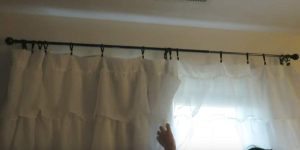 Watch How Cleverly She Makes No Sew Blackout Curtains For Less Than $20!