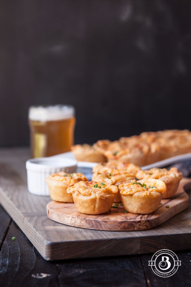 Best Recipes Made With Beer - Buffalo Beer Cheese Bites - Easy Dinner, Lunch and Snack Recipe Ideas Made With Beer - Food for the Slow Cooker and Crockpot, Meat and Chicken Dishes, Appetizers, Homemade Pretzels, Summer BBQ Sauces and PArty Food Ideas http://diyjoy.com/best-recipes-made-with-beer