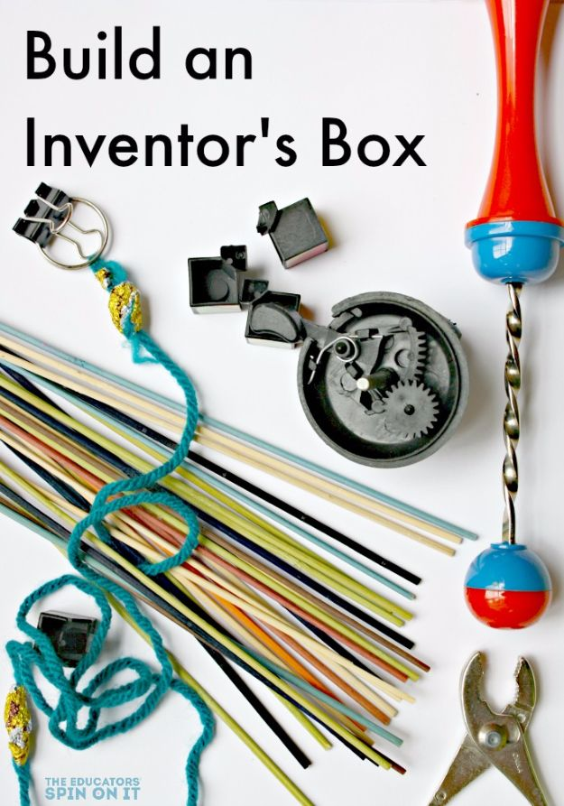 DIY Stem and Science Ideas for Kids and Teens - Build An Inventor's Box - Fun and Easy Do It Yourself Projects and Crafts Using Math, Electronics, Engineering Concepts and Basic Building Skills - Creatve and Cool Project Tutorials For Kids To Make At Home This Summer - Boys, Girls and Teenagers Have Fun Making Room Decor, Experiments and Playtime STEM Fun #stem #diyideas #stemideas #kidscrafts