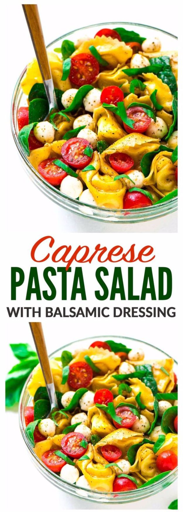 Best Recipe Ideas for Summer - Caprese Pasta Salad - Cool Salads, Easy Side Dishes, Recipes for Summer Foods and Dinner to Beat the Heat - Light and Healthy Ideas for Hot Summer Nights, Pool Parties and Picnics http://diyjoy.com/best-recipes-summer