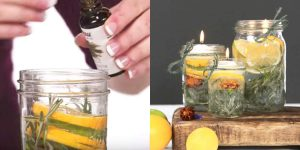 Genius Woman Makes Mason Jar Candles And It's What She Uses That Makes Them Perfect For Outdoors!