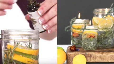 Genius Woman Makes Mason Jar Candles And It's What She Uses That Makes Them Perfect For Outdoors! | DIY Joy Projects and Crafts Ideas