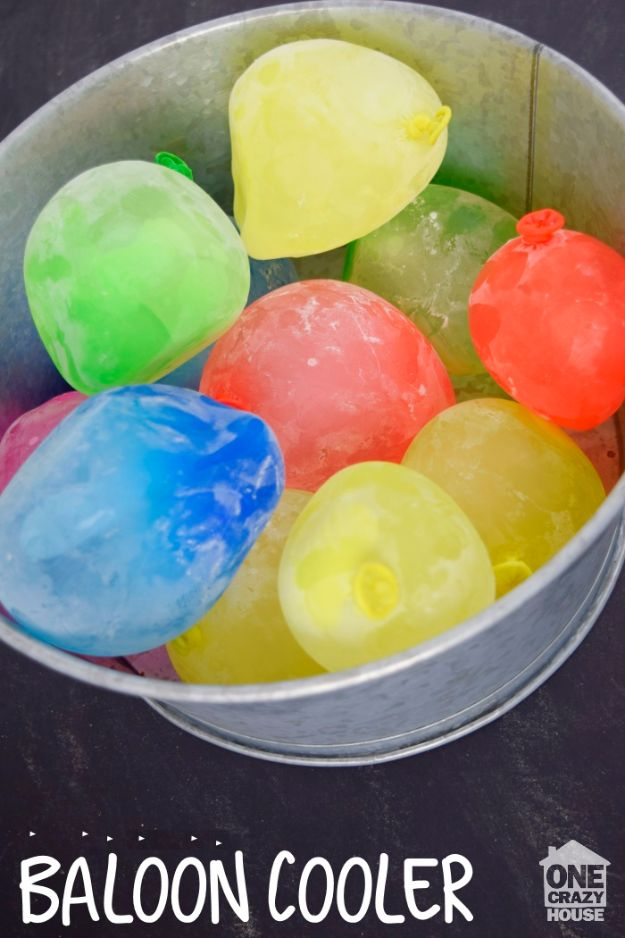 DIY Hacks for Summer - DIY Balloon Cooler - Easy Projects to Try This Summer To Get Organized, Spend Time Outdoors, Play With The Kids, Stay Cool In The Heat - Tips and Tricks to Make Summertime Awesome - Crafts and Home Decor by DIY JOY http://diyjoy.com/diy-hacks-summer