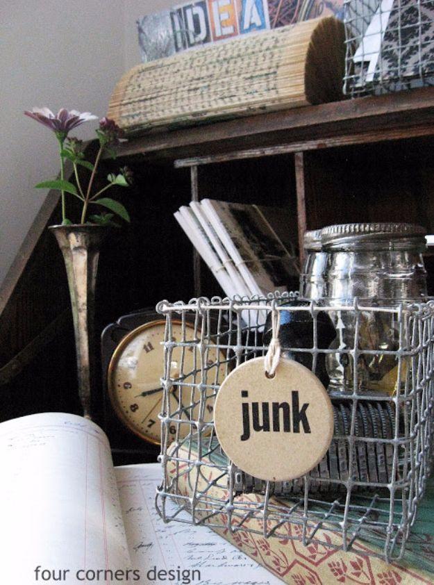 Best DIY Ideas With Chicken Wire   DIY Chicken Wire Basket   Rustic  Farmhouse Decor Tutorials