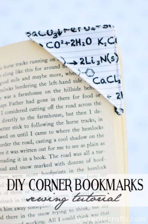 Best Quilting and Fabric Scraps Projects - DIY Corner Bookmarks - Easy Ideas for Making DIY Home Decor, Homemade Gifts, Wall Art , Kitchen Accessories, Clothes and Fashion from Leftover Fabric Scrap and Quilt Pieces - Cute Do It Yourself Ideas for Birthday, Christmas, Baby and Friends #crafts #quilting #sewing
