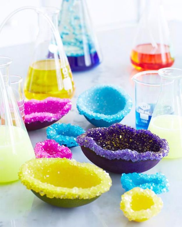 DIY Stem and Science Ideas for Kids and Teens - DIY Crystal Geode Eggs - Fun and Easy Do It Yourself Projects and Crafts Using Math, Electronics, Engineering Concepts and Basic Building Skills - Creatve and Cool Project Tutorials For Kids To Make At Home This Summer - Boys, Girls and Teenagers Have Fun Making Room Decor, Experiments and Playtime STEM Fun #stem #diyideas #stemideas #kidscrafts