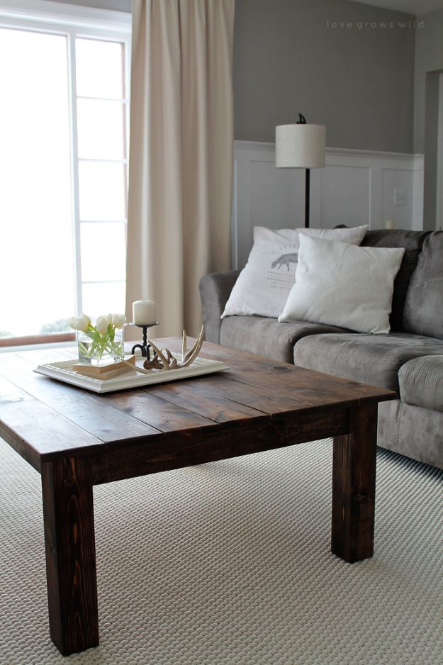 Best Country Decor Ideas - DIY Farmhouse Coffee Table - Rustic Farmhouse Decor Tutorials and Easy Vintage Shabby Chic Home Decor for Kitchen, Living Room and Bathroom - Creative Country Crafts, Rustic Wall Art and Accessories to Make and Sell http://diyjoy.com/country-decor-ideas