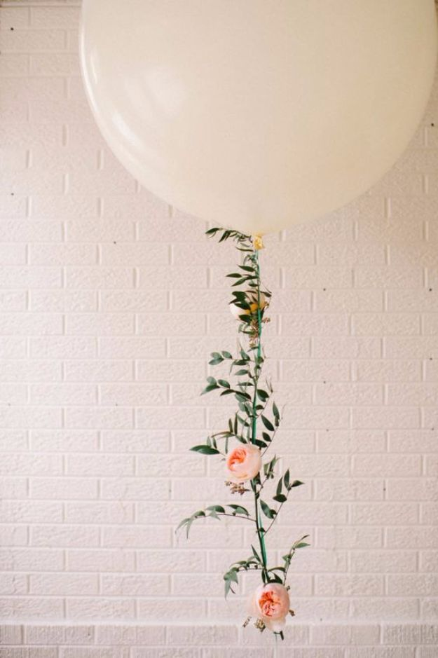 DIY Backyard Party Decor - DIY Floral Balloon Garland - Cool Ideas for Decorations for Parties - Easy and Cheap Crafts for Summer Barbecues and Family Get Togethers, Swimming and Pool Party Fun - Step by Step Tutorials For Banners, Table Decor, Serving Ideas and Mason Jar Crafts r