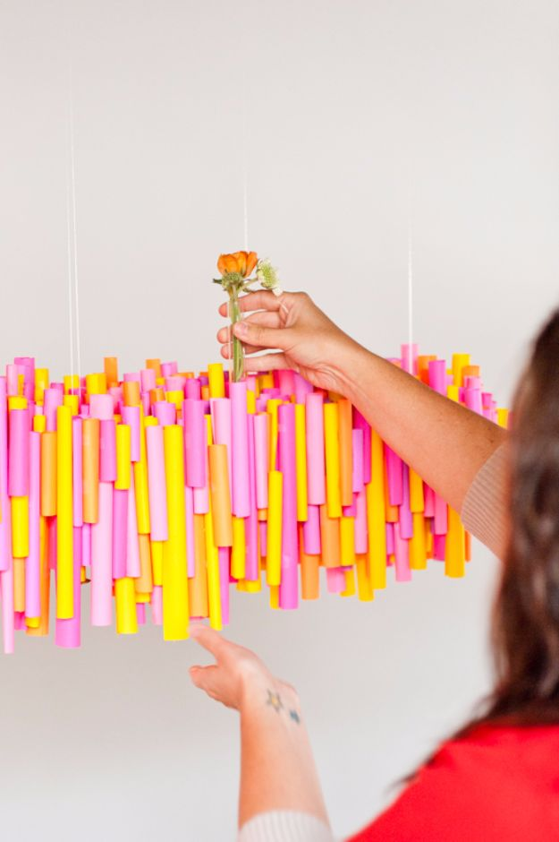 DIY Backyard Party Decor - DIY Hanging Paper Chandelier - Cool Ideas for Decorations for Parties - Easy and Cheap Crafts for Summer Barbecues and Family Get Togethers, Swimming and Pool Party Fun - Step by Step Tutorials For Banners, Table Decor, Serving Ideas and Mason Jar Crafts r