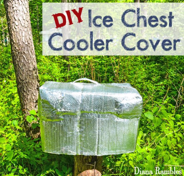DIY Hacks for Summer - DIY Insulated Cooler Cover - Easy Projects to Try This Summer To Get Organized, Spend Time Outdoors, Play With The Kids, Stay Cool In The Heat - Tips and Tricks to Make Summertime Awesome - Crafts and Home Decor by DIY JOY