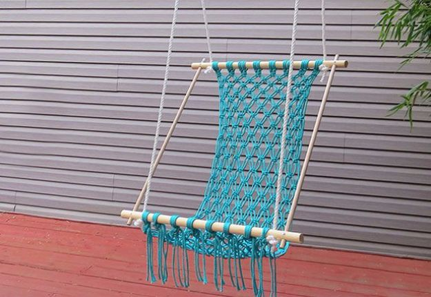 Best Country Decor Ideas for Your Porch - DIY Macrame Hammock - Rustic Farmhouse Decor Tutorials and Easy Vintage Shabby Chic Home Decor for Kitchen, Living Room and Bathroom - Creative Country Crafts, Furniture, Patio Decor and Rustic Wall Art and Accessories to Make and Sell http://diyjoy.com/country-decor-ideas-porchs