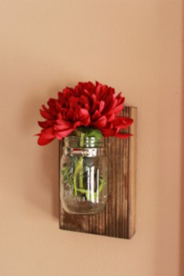 Best Country Decor Ideas - DIY Mason Jar Wall Decor - Rustic Farmhouse Decor Tutorials and Easy Vintage Shabby Chic Home Decor for Kitchen, Living Room and Bathroom - Creative Country Crafts, Rustic Wall Art and Accessories to Make and Sell http://diyjoy.com/country-decor-ideas