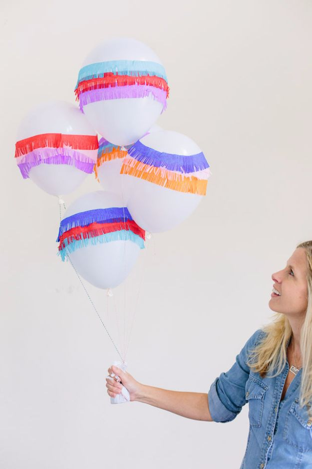 DIY Backyard Party Decor - DIY Piñata Balloons - Cool Ideas for Decorations for Parties - Easy and Cheap Crafts for Summer Barbecues and Family Get Togethers, Swimming and Pool Party Fun - Step by Step Tutorials For Banners, Table Decor, Serving Ideas and Mason Jar Crafts http://diyjoy.com/diy-backyard-party-decor