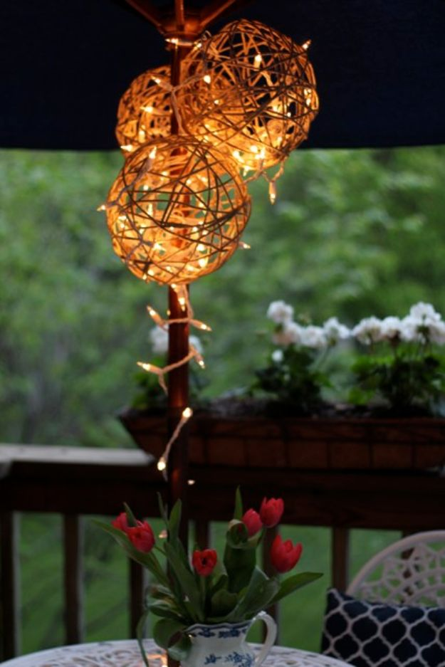 Best Country Crafts For The Home - DIY Twine Garden Lanterns - Cool and Easy DIY Craft Projects for Home Decor, Dollar Store Gifts, Furniture and Kitchen Accessories - Creative Wall Art Ideas, Rustic and Farmhouse Looks, Shabby Chic and Vintage Decor To Make and Sell http://diyjoy.com/country-crafts-for-the-home