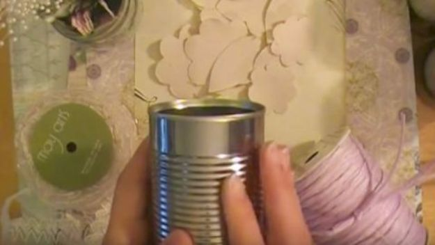 DIY Ideas With Old Tin Cans - Decorated Tin Cans - Rustic Farmhouse Decor Tutorials and Projects Made With An Old Tin Can - Easy Vintage Shelving, Wall Art, Picture Frames and Home Decor for Kitchen, Living Room and Bathroom - Creative Country Crafts, Craft Room Storage, Silverware Holder, Rustic Wall Art and Accessories to Make and Sell http://diyjoy.com/diy-projects-tin-cans