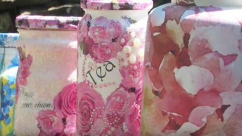This 5 Minute Decoupage Project Will Net You The Prettiest Mason