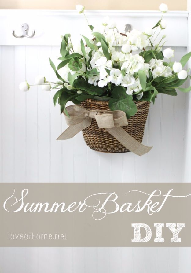 Best Country Decor Ideas - Door Basket DIY - Rustic Farmhouse Decor Tutorials and Easy Vintage Shabby Chic Home Decor for Kitchen, Living Room and Bathroom - Creative Country Crafts, Rustic Wall Art and Accessories to Make and Sell http://diyjoy.com/country-decor-ideas