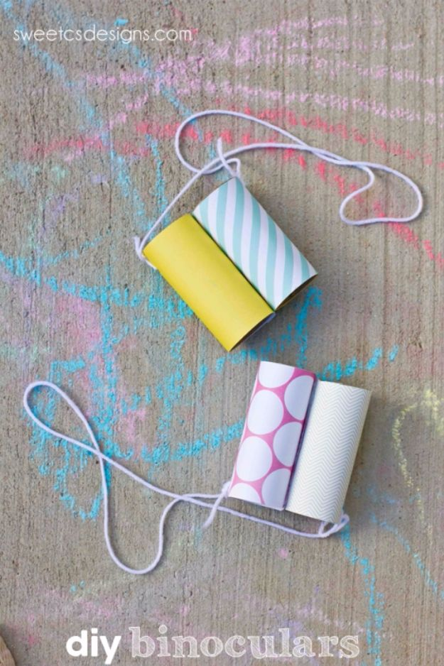 DIY Ideas for Kids To Make This Summer - Easy DIY Kid's Binoculars - Fun Crafts and Cool Projects for Boys and Girls To Make at Home - Easy and Cheap Do It Yourself Project Ideas With Paint, Glue, Paper, Glitter, Chalk and Things You Can Find Around The House - Creative Arts and Crafts Ideas for Children #summer #kidscrafts