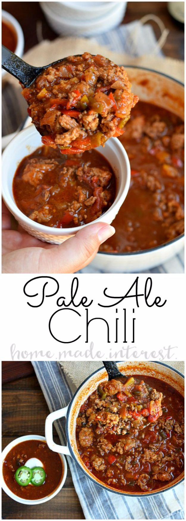 Best Recipes Made With Beer - Easy Stovetop Pale Ale Chili - Easy Dinner, Lunch and Snack Recipe Ideas Made With Beer - Food for the Slow Cooker and Crockpot, Meat and Chicken Dishes, Appetizers, Homemade Pretzels, Summer BBQ Sauces and PArty Food Ideas