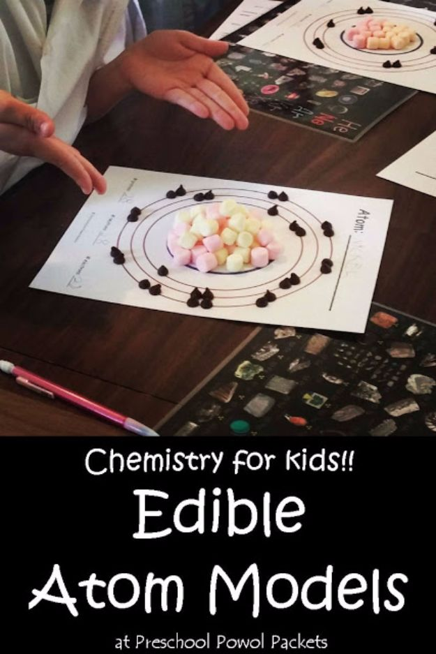 DIY Stem and Science Ideas for Kids and Teens - Edible Atom Models - Fun and Easy Do It Yourself Projects and Crafts Using Math, Electronics, Engineering Concepts and Basic Building Skills - Creatve and Cool Project Tutorials For Kids To Make At Home This Summer - Boys, Girls and Teenagers Have Fun Making Room Decor, Experiments and Playtime STEM Fun http://diyjoy.com/diy-stem-science-projects