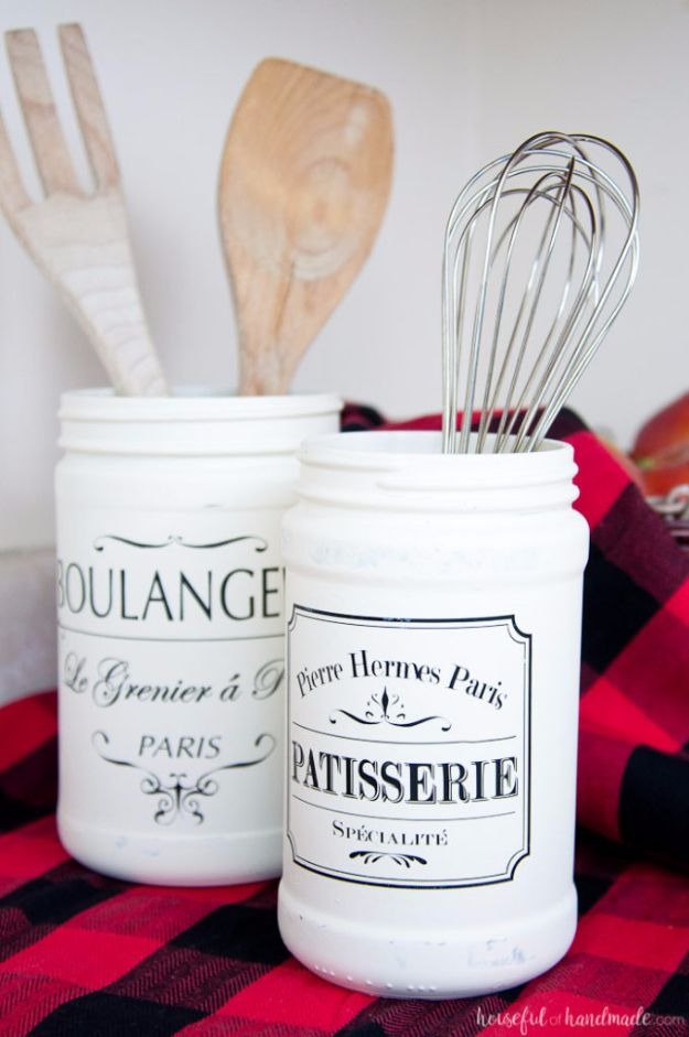 Best Country Crafts For The Home - Farmhouse Kitchen Canister DIY - Cool and Easy DIY Craft Projects for Home Decor, Dollar Store Gifts, Furniture and Kitchen Accessories - Creative Wall Art Ideas, Rustic and Farmhouse Looks, Shabby Chic and Vintage Decor To Make and Sell http://diyjoy.com/country-crafts-for-the-home