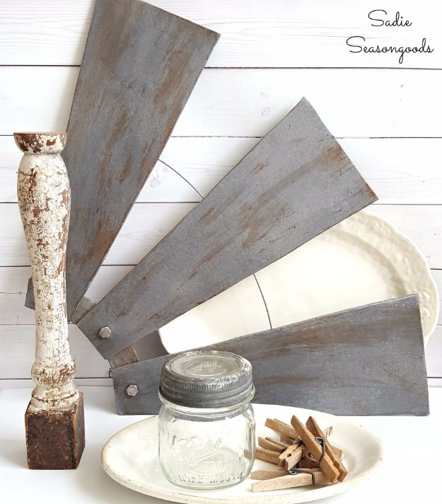Best Country Decor Ideas - Farmhouse-Style Revamped Ceiling Fan Blades - Rustic Farmhouse Decor Tutorials and Easy Vintage Shabby Chic Home Decor for Kitchen, Living Room and Bathroom - Creative Country Crafts, Rustic Wall Art and Accessories to Make and Sell http://diyjoy.com/country-decor-ideas