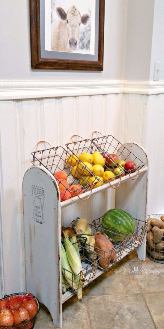 Best Country Decor Ideas - Farmhouse Vegetable Stand - Rustic Farmhouse Decor Tutorials and Easy Vintage Shabby Chic Home Decor for Kitchen, Living Room and Bathroom - Creative Country Crafts, Rustic Wall Art and Accessories to Make and Sell http://diyjoy.com/country-decor-ideas