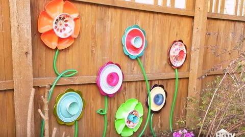 Watch How She Brightens Up Her Backyard With Dollar Store