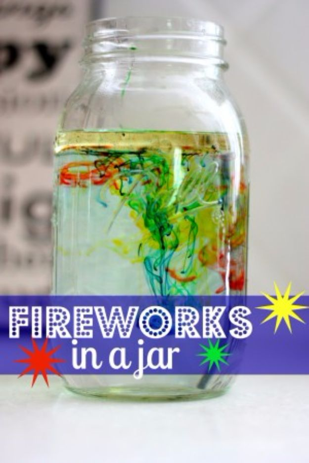 DIY Stem and Science Ideas for Kids and Teens - Fireworks in a Jar - Fun and Easy Do It Yourself Projects and Crafts Using Math, Electronics, Engineering Concepts and Basic Building Skills - Creatve and Cool Project Tutorials For Kids To Make At Home This Summer - Boys, Girls and Teenagers Have Fun Making Room Decor, Experiments and Playtime STEM Fun #stem #diyideas #stemideas #kidscrafts
