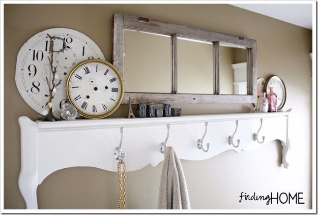 Best Country Decor Ideas - Footboard Towel Rack - Rustic Farmhouse Decor Tutorials and Easy Vintage Shabby Chic Home Decor for Kitchen, Living Room and Bathroom - Creative Country Crafts, Rustic Wall Art and Accessories to Make and Sell http://diyjoy.com/country-decor-ideas