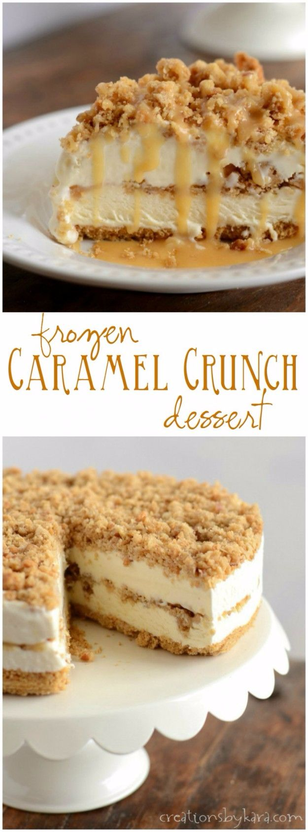 Best Recipe Ideas for Summer - Frozen Caramel Crunch Torte - Cool Salads, Easy Side Dishes, Recipes for Summer Foods and Dinner to Beat the Heat - Light and Healthy Ideas for Hot Summer Nights, Pool Parties and Picnics http://diyjoy.com/best-recipes-summer
