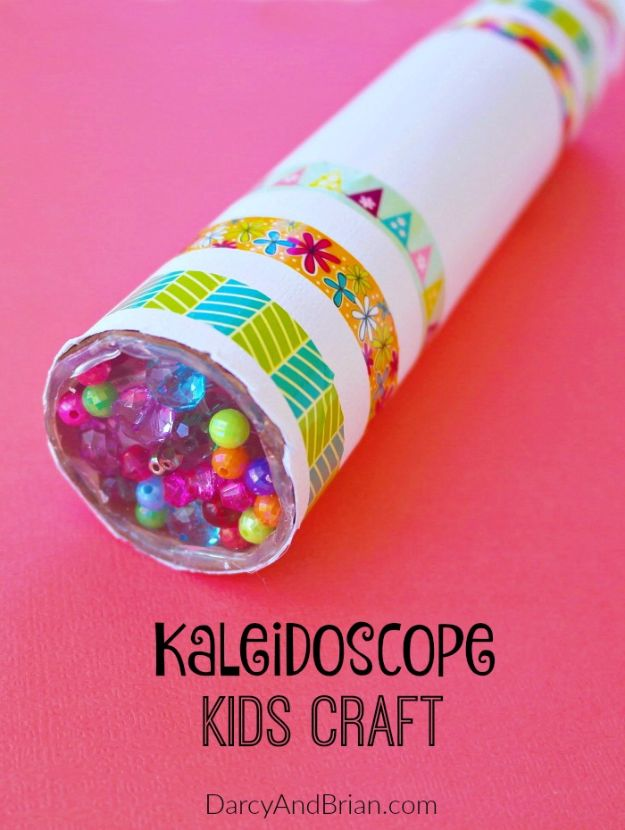 DIY Ideas for Kids To Make This Summer - Fun DIY Kaleidoscope - Fun Crafts and Cool Projects for Boys and Girls To Make at Home - Easy and Cheap Do It Yourself Project Ideas With Paint, Glue, Paper, Glitter, Chalk and Things You Can Find Around The House - Creative Arts and Crafts Ideas for Children #summer #kidscrafts