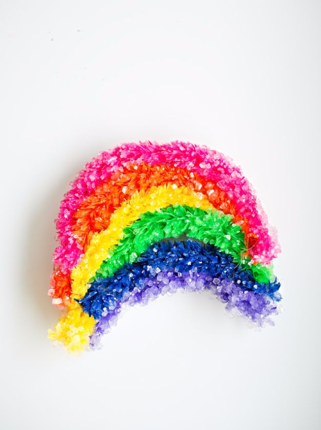 DIY Stem and Science Ideas for Kids and Teens - Giant Crystal Rainbow - Fun and Easy Do It Yourself Projects and Crafts Using Math, Electronics, Engineering Concepts and Basic Building Skills - Creatve and Cool Project Tutorials For Kids To Make At Home This Summer - Boys, Girls and Teenagers Have Fun Making Room Decor, Experiments and Playtime STEM Fun http://diyjoy.com/diy-stem-science-projects