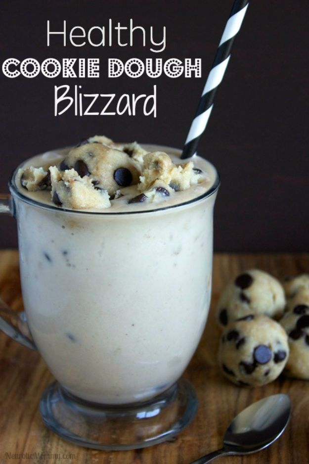 Best Recipe Ideas for Summer - Healthy Cookie Dough Blizzard - Cool Salads, Easy Side Dishes, Recipes for Summer Foods and Dinner to Beat the Heat - Light and Healthy Ideas for Hot Summer Nights, Pool Parties and Picnics http://diyjoy.com/best-recipes-summer
