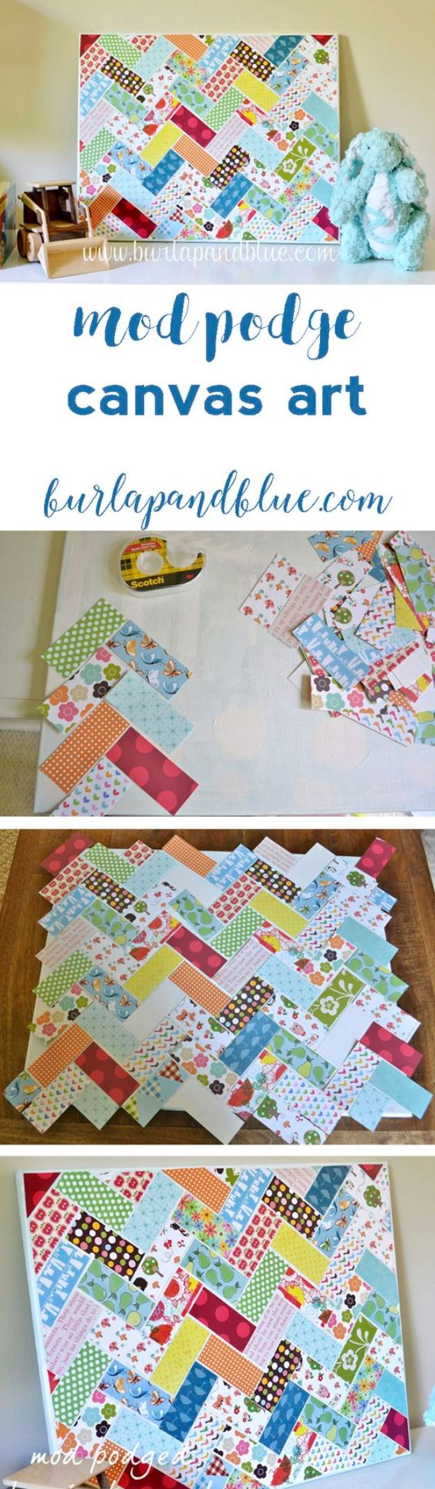 Best Quilting and Fabric Scraps Projects - Herringbone Wall Art - Easy Ideas for Making DIY Home Decor, Homemade Gifts, Wall Art , Kitchen Accessories, Clothes and Fashion from Leftover Fabric Scrap and Quilt Pieces - Cute Do It Yourself Ideas for Birthday, Christmas, Baby and Friends http://diyjoy.com/quilting-scraps-projects