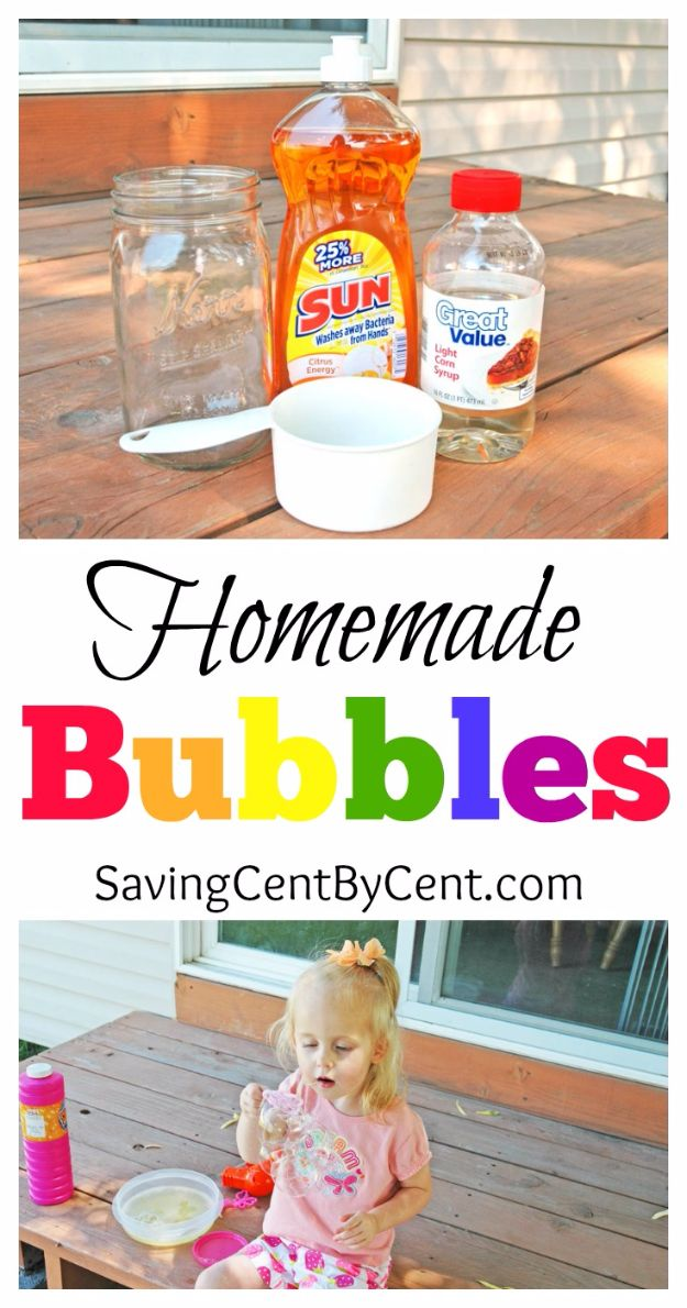 DIY Hacks for Summer - Homemade Bubbles - Easy Projects to Try This Summer To Get Organized, Spend Time Outdoors, Play With The Kids, Stay Cool In The Heat - Tips and Tricks to Make Summertime Awesome - Crafts and Home Decor by DIY JOY