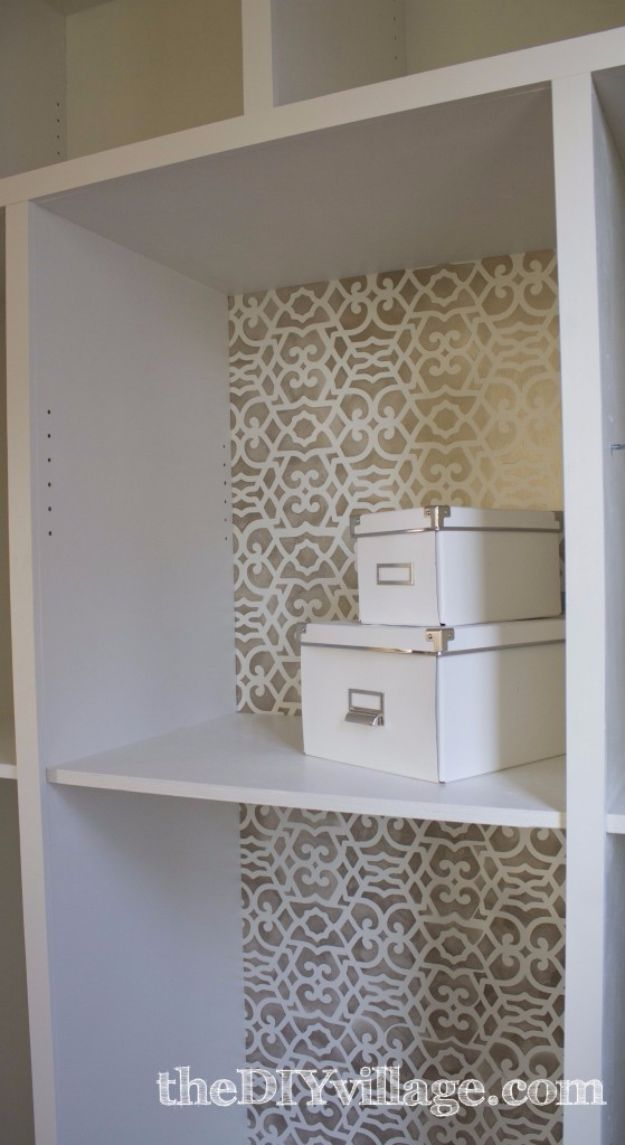 DIY Stencil Ideas - Kitchen Pantry Stencil - Cool and Easy Stenciling Tutorials For Making Handmade Wallpaper and Designs, Furniture Makeover Ideas and Crafty Modern Decor With Stencils - Rustic Farmhouse Paint Techniques and Step by Step Instructions for Using Stencil Art in Your Living Room, Bedroom, Bathroom and Crafts http://diyjoy.com/diy-stencil-ideas-projects