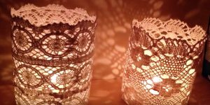 She's Inspired By All The Doily DIY's And Creates These Beautiful Doily Lanterns — Watch How!