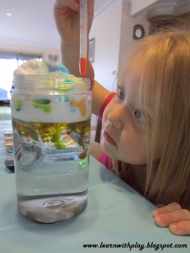 DIY Stem and Science Ideas for Kids and Teens - Make Cloud Jars - Fun and Easy Do It Yourself Projects and Crafts Using Math, Electronics, Engineering Concepts and Basic Building Skills - Creatve and Cool Project Tutorials For Kids To Make At Home This Summer - Boys, Girls and Teenagers Have Fun Making Room Decor, Experiments and Playtime STEM Fun #stem #diyideas #stemideas #kidscrafts