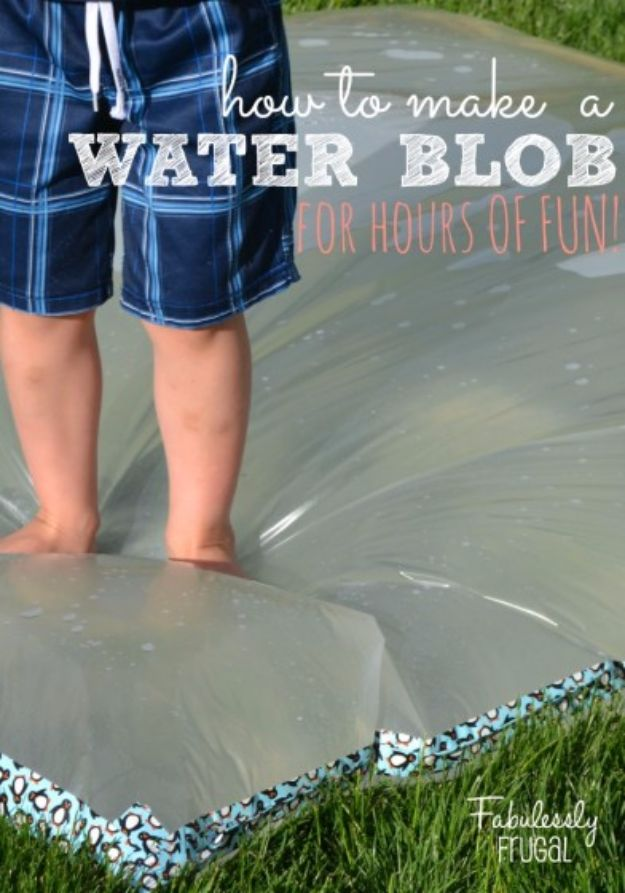 DIY Hacks for Summer - Make Your Own Water Blob - Easy Projects to Try This Summer To Get Organized, Spend Time Outdoors, Play With The Kids, Stay Cool In The Heat - Tips and Tricks to Make Summertime Awesome - Crafts and Home Decor by DIY JOY
