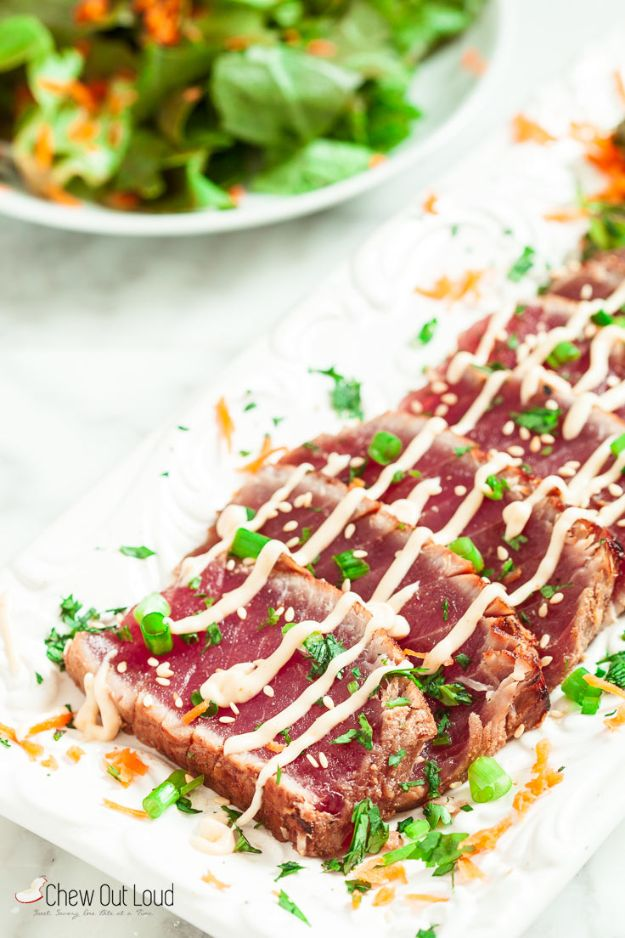 Best Recipe Ideas for Summer - Marinated Seared Ahi - Cool Salads, Easy Side Dishes, Recipes for Summer Foods and Dinner to Beat the Heat - Light and Healthy Ideas for Hot Summer Nights, Pool Parties and Picnics http://diyjoy.com/best-recipes-summer