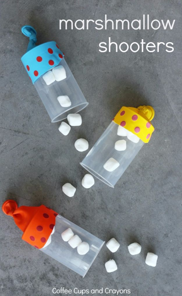 DIY Ideas for Kids To Make This Summer - Marshmallow Shooters - Fun Crafts and Cool Projects for Boys and Girls To Make at Home - Easy and Cheap Do It Yourself Project Ideas With Paint, Glue, Paper, Glitter, Chalk and Things You Can Find Around The House - Creative Arts and Crafts Ideas for Children #summer #kidscrafts