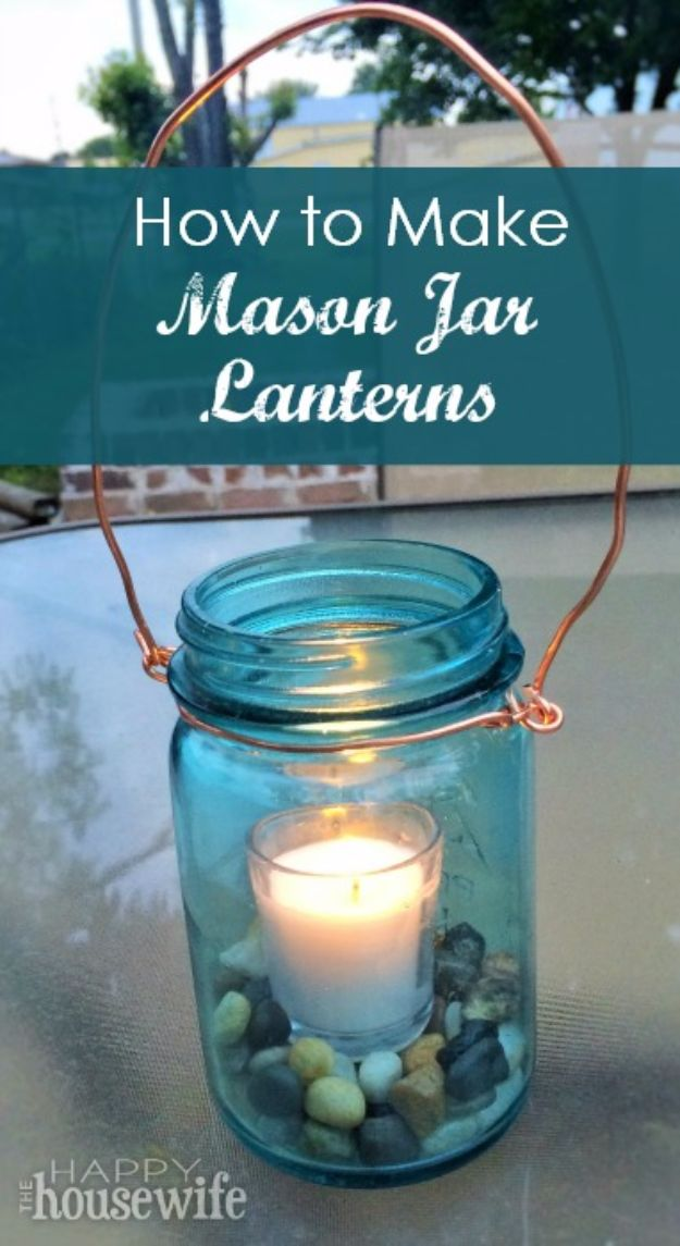 Best Country Decor Ideas for Your Porch - Mason Jar Lanterns - Rustic Farmhouse Decor Tutorials and Easy Vintage Shabby Chic Home Decor for Kitchen, Living Room and Bathroom - Creative Country Crafts, Furniture, Patio Decor and Rustic Wall Art and Accessories to Make and Sell http://diyjoy.com/country-decor-ideas-porchs