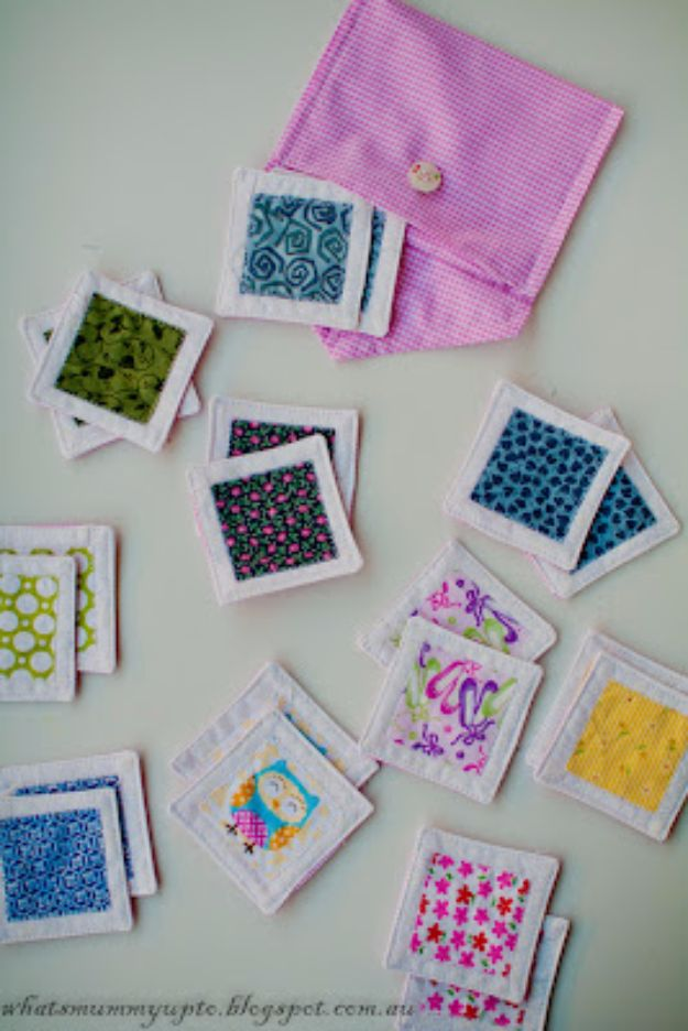 Best Quilting and Fabric Scraps Projects - Matching Scraps Game - Easy Ideas for Making DIY Home Decor, Homemade Gifts, Wall Art , Kitchen Accessories, Clothes and Fashion from Leftover Fabric Scrap and Quilt Pieces - Cute Do It Yourself Ideas for Birthday, Christmas, Baby and Friends http://diyjoy.com/quilting-scraps-projects